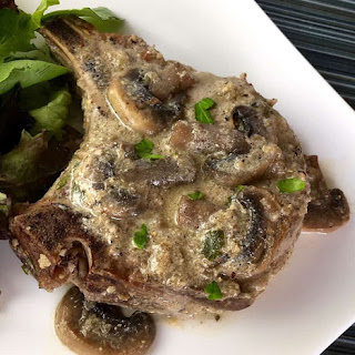 Easy Bone-in Pork Chops with Mushroom Gravy Recipe