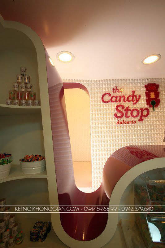 thiết kế shop kẹo candy stop 9