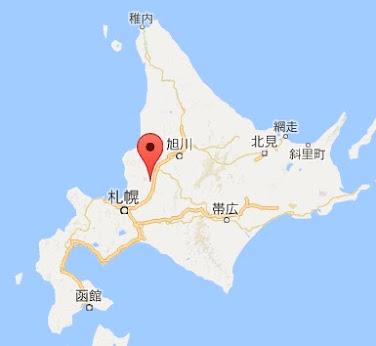 地図:浦臼町