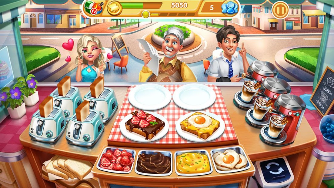 Cooking City: crazy chef' s restaurant game Android App Screenshot