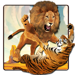 Lion Vs Tiger Wild Adventure Icon