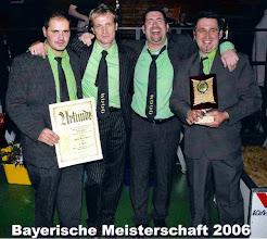 Photo: 2006: 4. Bayerischer Meister Mannschaft verbaut