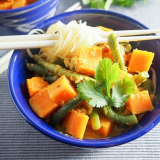 Green Bean and Squash Laksa #FoodieExtravaganza Recipe