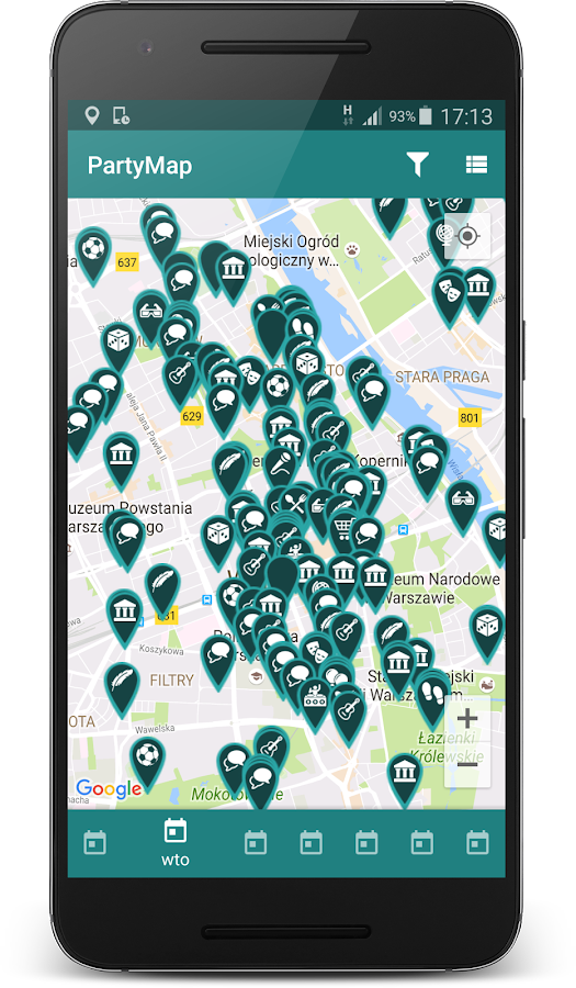 imprezy i koncerty - PartyMap- screenshot
