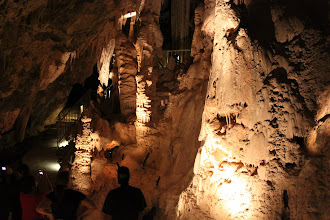 Photo: Inside the caves. The caves have lights at some points, which are turned off as people leave