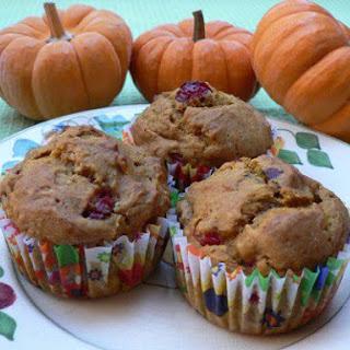 Pumpkin Cranberry Muffins.