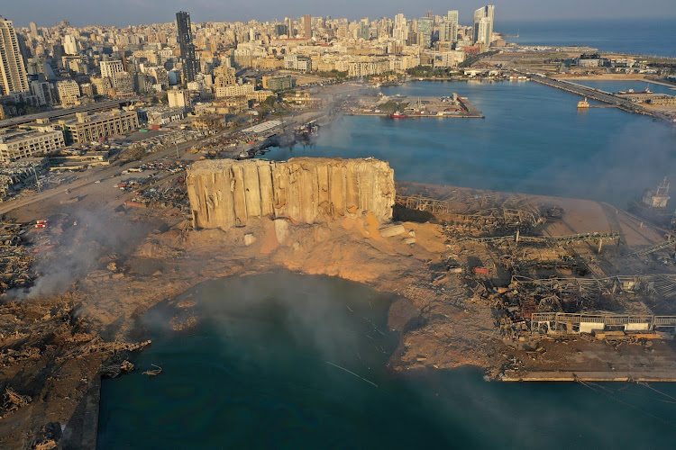 An aerial view of Beirut City