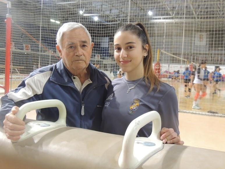 Con Antonio Yagüe, el padre de la gimansia en Almería.