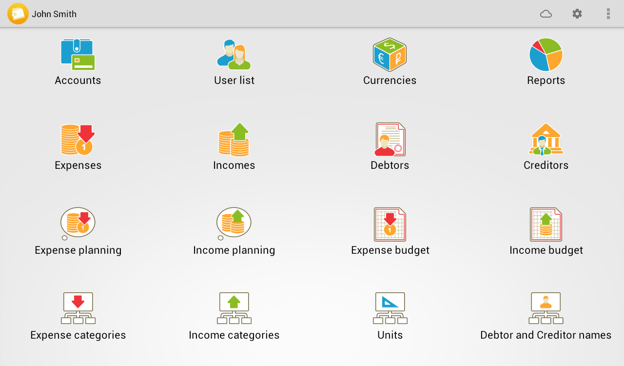 Home Bookkeeping- screenshot