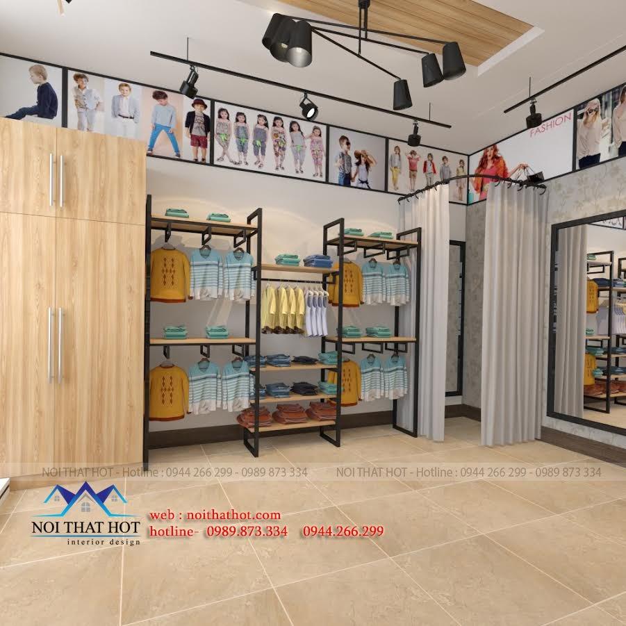 thiết kế shop thời trang nữ tiện lợi, trẻ trung