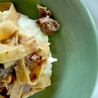Creamy Slow Cooker Beef & Noodles.