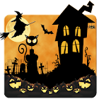 Halloween Night Cat Theme icon