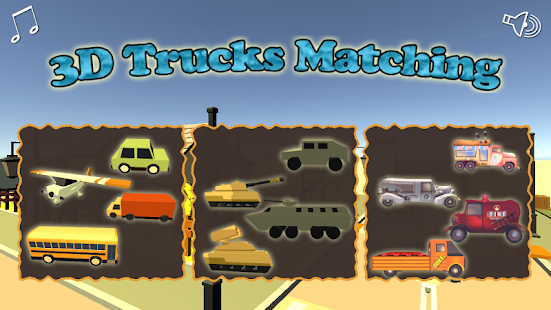Vehicle Matching Puzzle - 3D Game for Kids - náhled