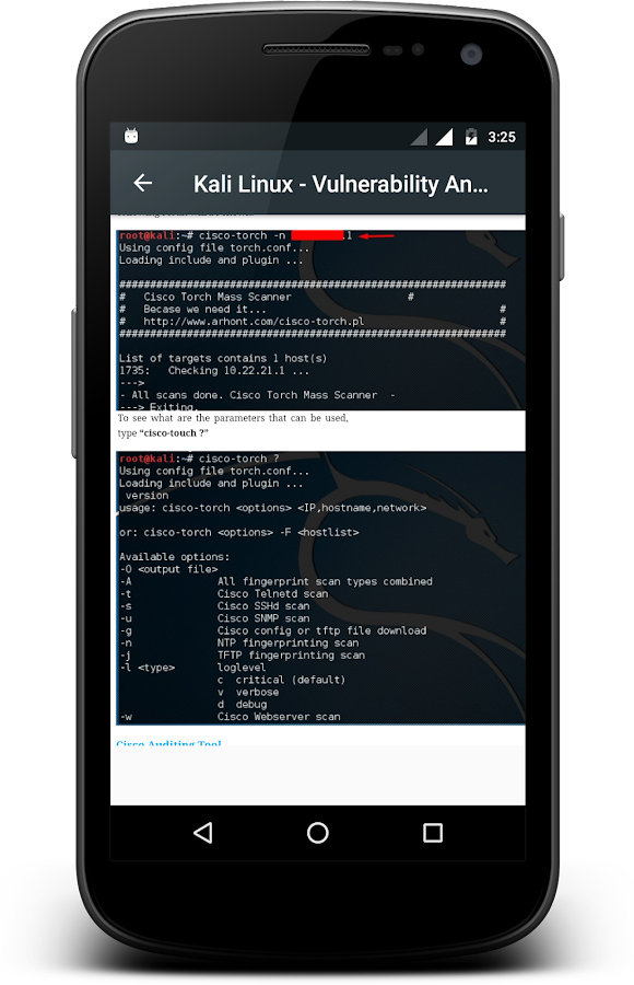 Kali Linux- screenshot