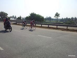 Photo: But one rider from team Trek Firefox managed to bridge up..