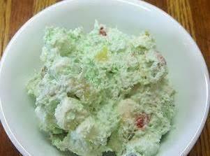 Pistashio Marshmallow Dessert W/fruit