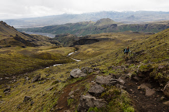 Photo: Serene climbing up to the Morinsheiði plateau