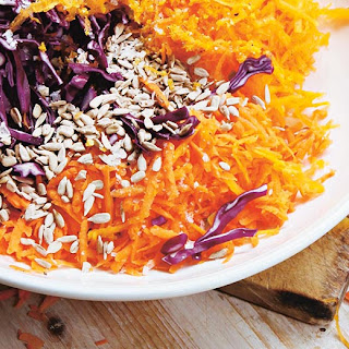 Pumpkin, Cabbage And Carrot Slaw