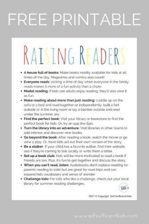 Parent's guide to raising readers