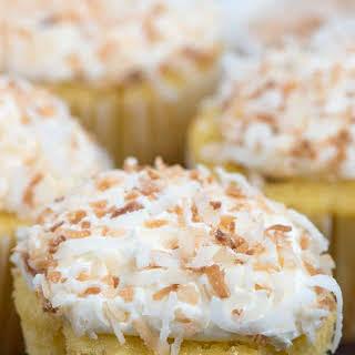 Easy Triple Coconut Cupcakes.