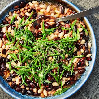 Mixed Bean Salad with Tomato Vinaigrette
