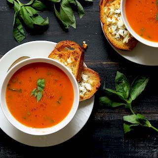 Roasted Tomato & Basil Soup.