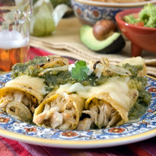 Chicken Enchiladas with Green Chili Salsa