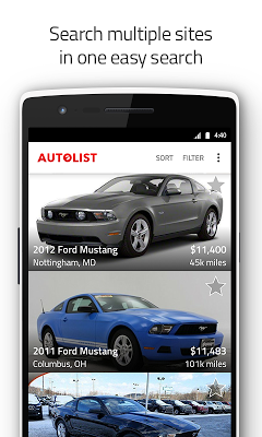 Used Cars and Trucks for Sale - screenshot