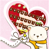 Cute Lovely Teddy Bear Keyboard Theme