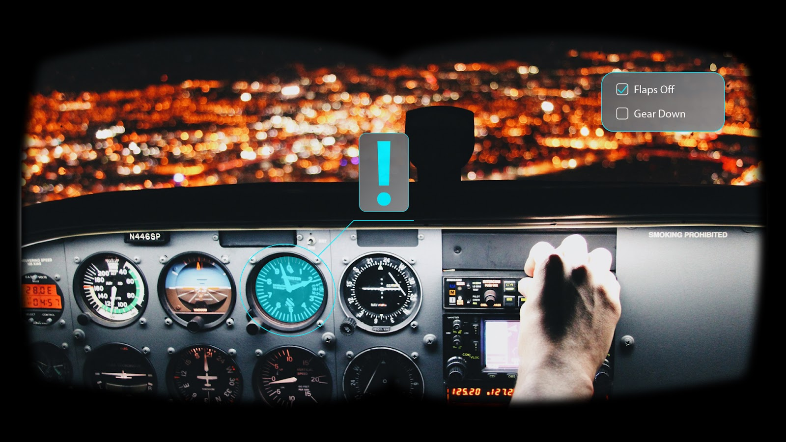 VR training in aviation