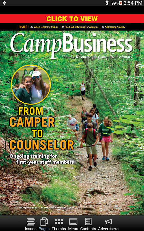 Camp Business Magazine- screenshot