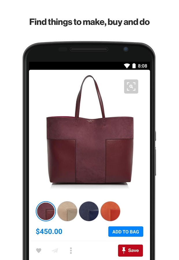 Screenshots of Pinterest for Android