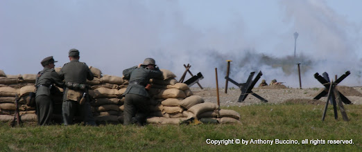 Photo: Gernmans in stronghold await Allied advance.