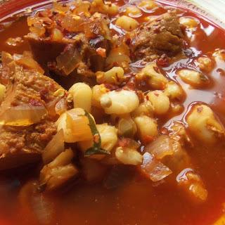 Pork Chile Colorado Pozole.