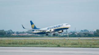 Imagen de un avión de la compañía Ryanair
