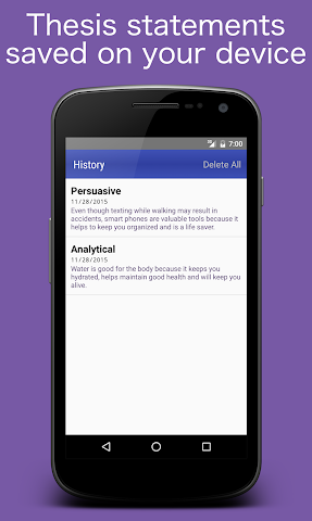 android Thesis Generator Screenshot 1