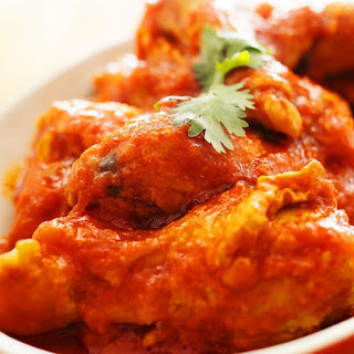 Fried Chicken in Spicy Tomato Sauce.