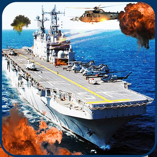 动作の現代のロシア海軍の軍艦の3D LOGO-記事Game