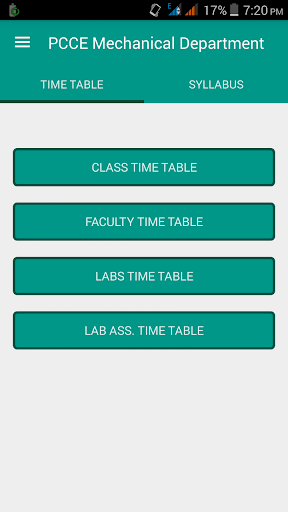PCCE Mech Time Table
