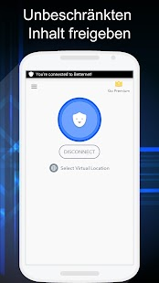 Betternet Kostenlose VPN Proxy & Wi-Fi Sicherheit Screenshot