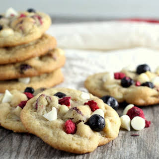 Red, White and Blueberry Cookies.
