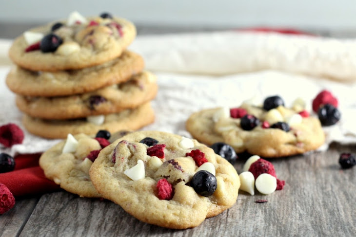 Red, White and Blueberry Cookies