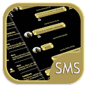 SMS Messages Metallic Gold icon
