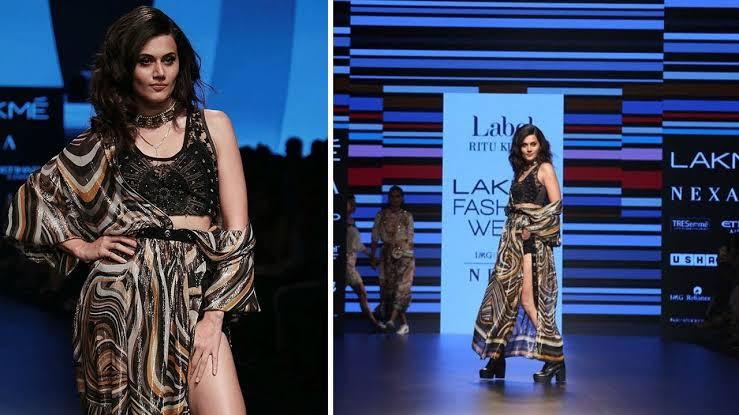 Taapsee Pannu Rampwalk at Lakme Fashion Week