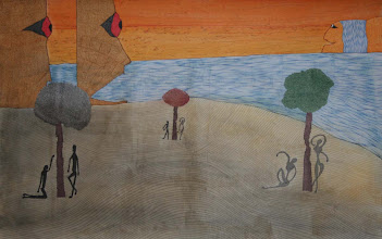 """Photo: Lost In a Lost World23"""" x 36""""2005 - 2007Pen & Ink on paper"""