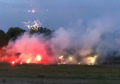 🎥 Dynamo Dresden-spelers getrakteerd op onwaarschijnlijk vuurwerkspektakel