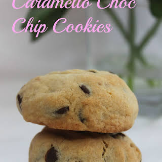 Caramello Choc Chip Cookies.