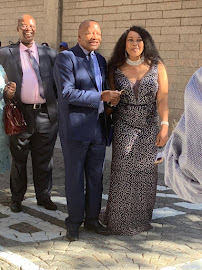 ANC chief whip Jackson Mthembu and his wife Thembi ahead of the state of the nation address in parliament in Cape Town on February 7 2019.