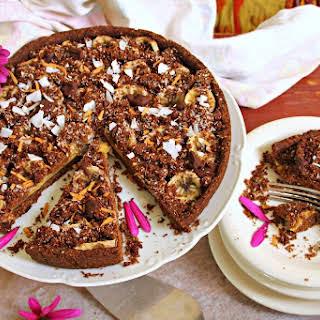 Guilt & Gluten Free Chocolate Banana Pie.