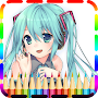 Anime Manga Coloring Books APK icon